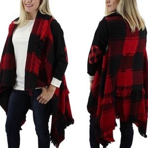 NWT! Stunning Black & Red Check Sweater Vest! ❤️